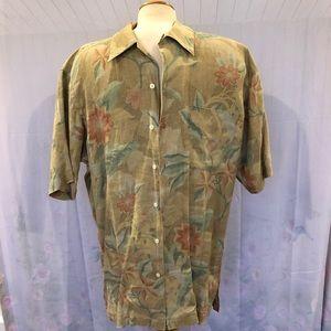 Men's Vintage Short Sleeve 100% Linen Button Down